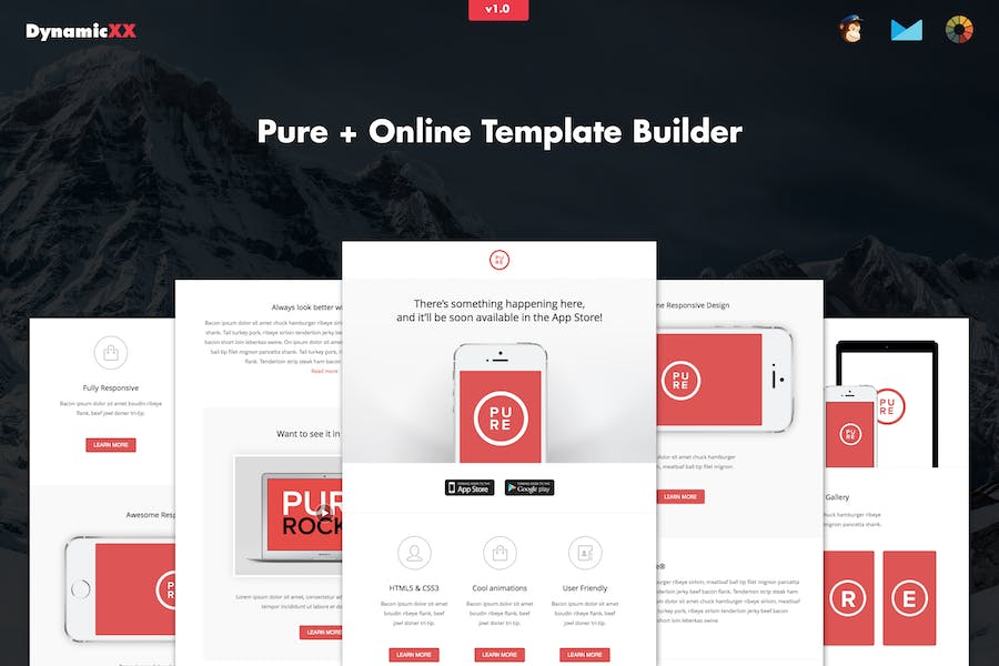 Pure - Responsive APP Email Template