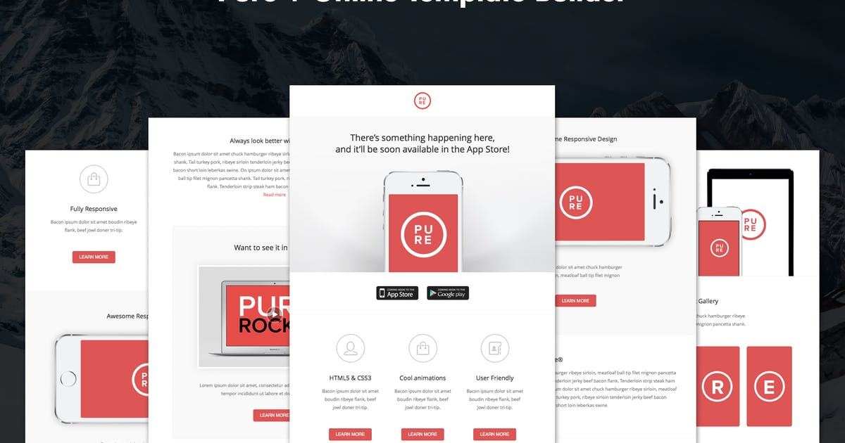 Download Pure - Responsive APP Email Template by DynamicXX