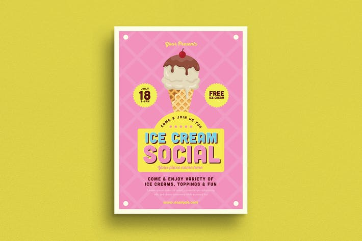 Thumbnail for Ice Cream Social Event Flyer