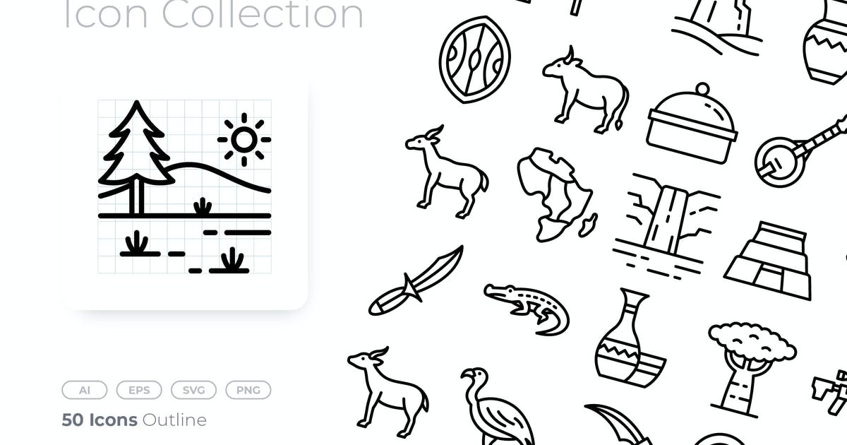 Download Africa Outline Icon by GoodWare_Std
