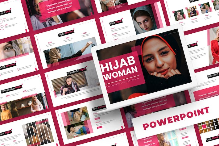 Hijab  Woman - Powerpoint Template