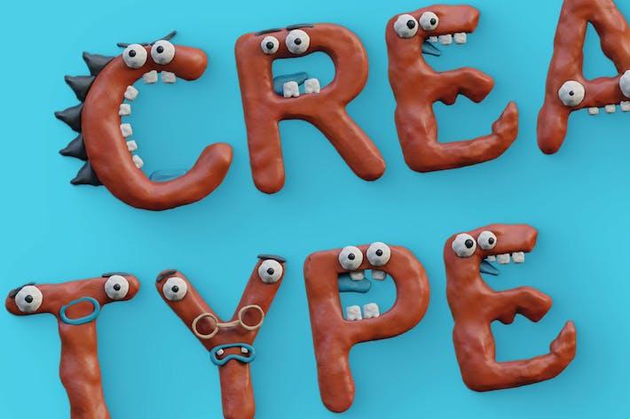 Thumbnail for Plasticine Monsters - Color SVG Font