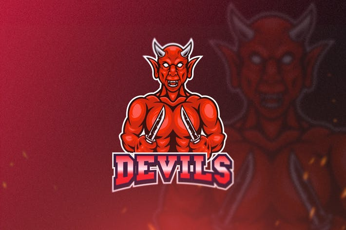Thumbnail for Devil Esport Logo Template