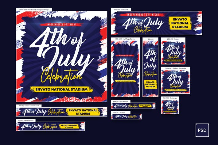 4th of July Banners Ad