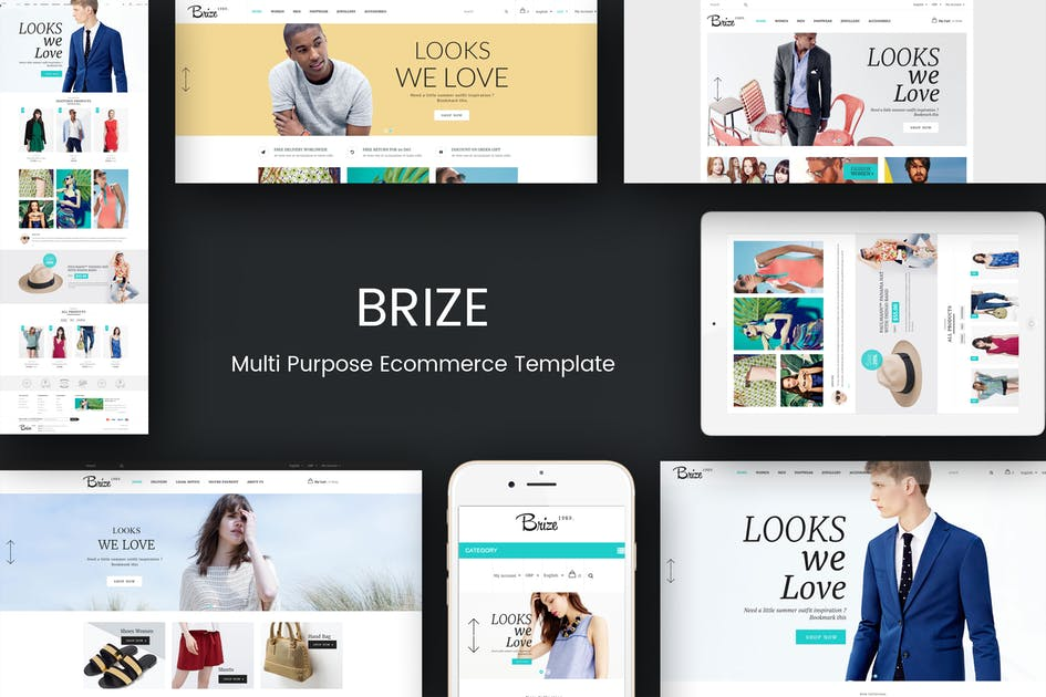 Download Brize - Responsive Prestashop Fashion Theme by posthemes