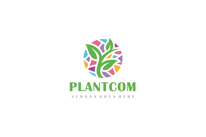 Thumbnail for Colorful Plant Logo