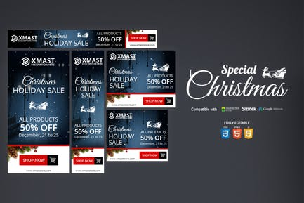Special Christmas HTML5 Banner