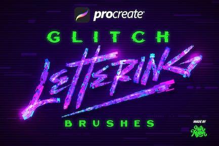 Procreate Glitch - Pinceles letras