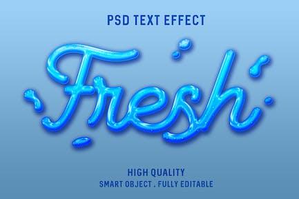 Текстовый эффект жидкой воды