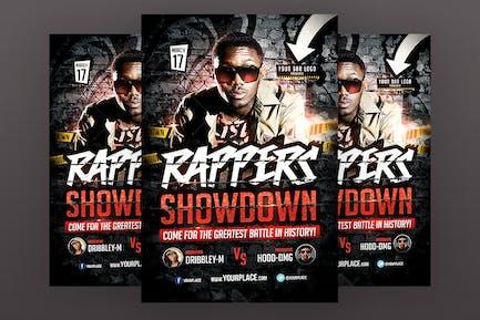 Rappers Showdown Flyer Template