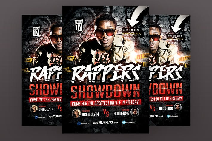 Thumbnail for Rappers Showdown Flyer Template