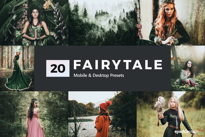 Thumbnail for 20 Fairytale Lightroom Presets & LUTs