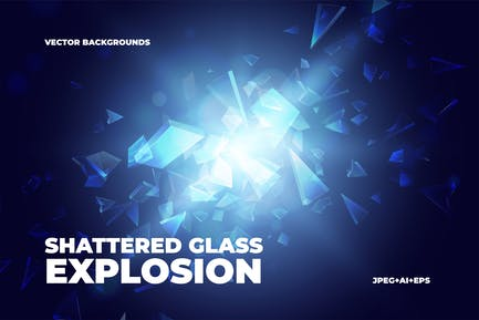 Shattered Glass Explosion Backgrounds