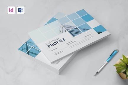 A5 Landscape Company Profile, Word Template