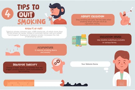 Tips to Quit Smoking Infographic