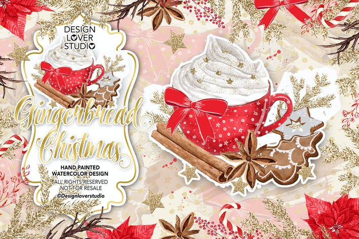 Thumbnail for Diseño navideño de pan de jengibre.
