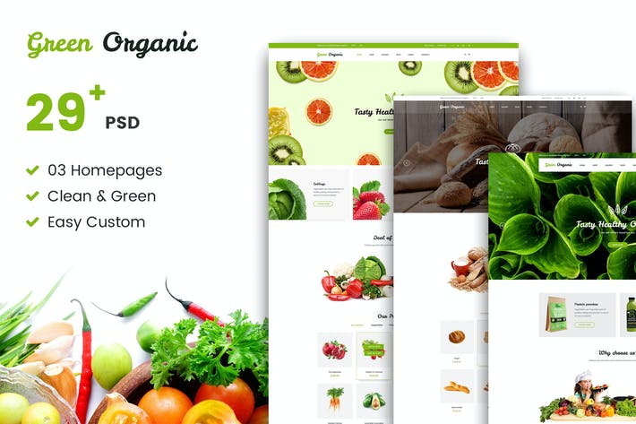 Thumbnail for Green Organic - Organic Store & Bakery PSD