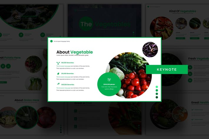 Thumbnail for The Vegetables - Keynote Template