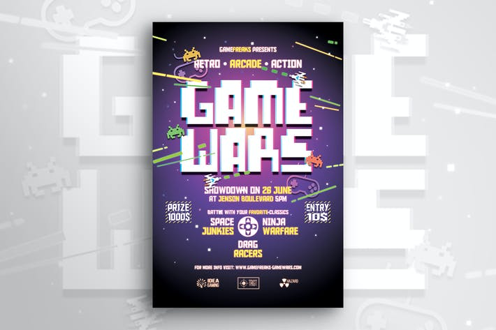 Thumbnail for Retro Game Wars Flyer