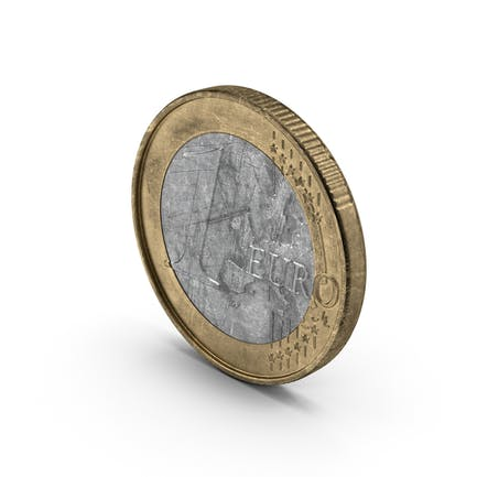 1 Euro Coin German Aged