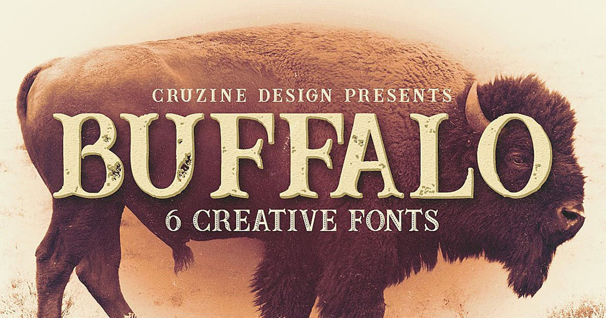 Download Buffalo Typeface by cruzine
