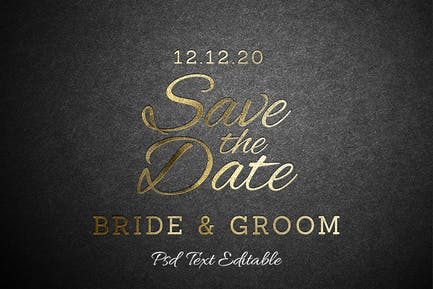 Gold Invitation Text Effect
