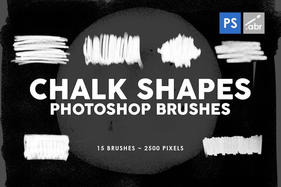 15 Chalk Shapes Photoshop Stamp Brushes