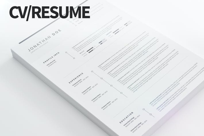 Thumbnail for CV/Resume - Clean and Minimal