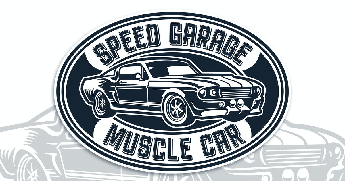 Download Muscle Car Badge Logo Template by Blankids