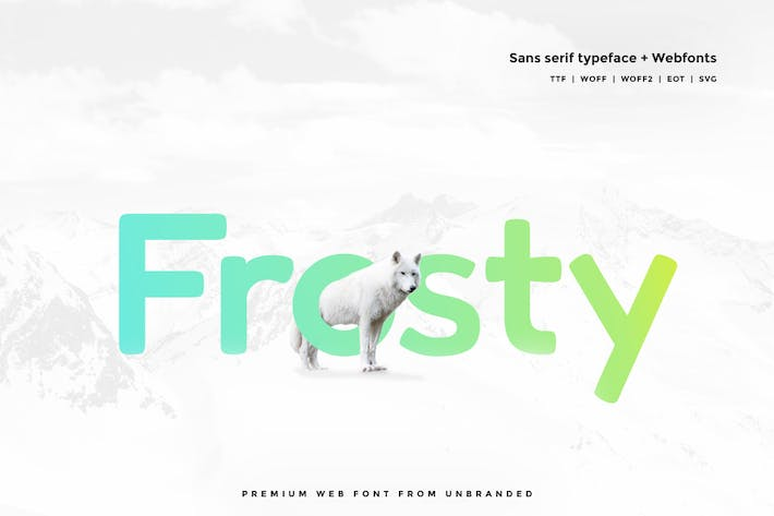 Thumbnail for Frosty - Modern Typeface + WebFonts