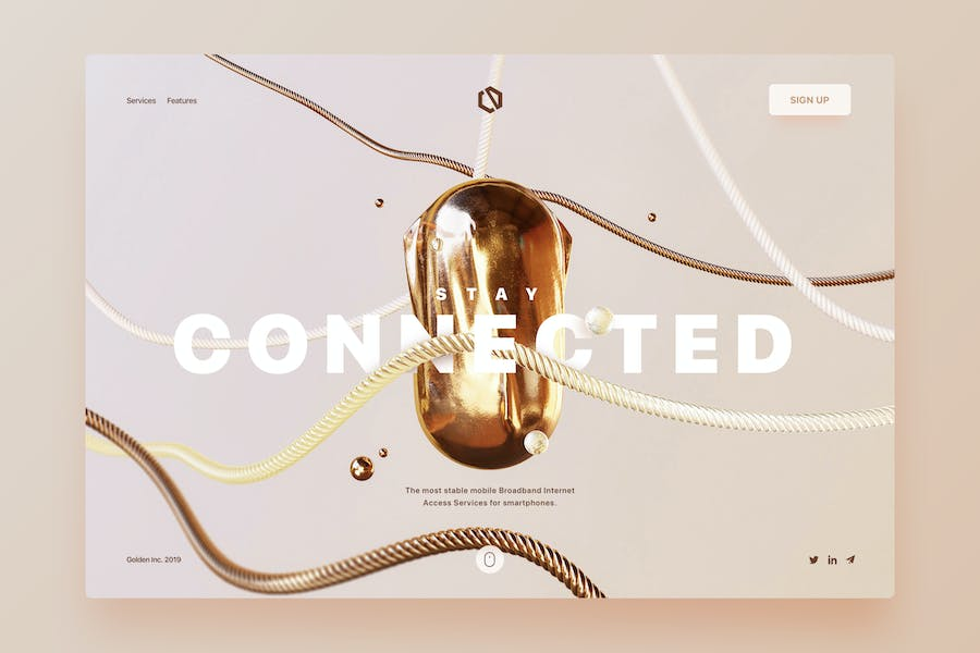 Connected - Landing Page