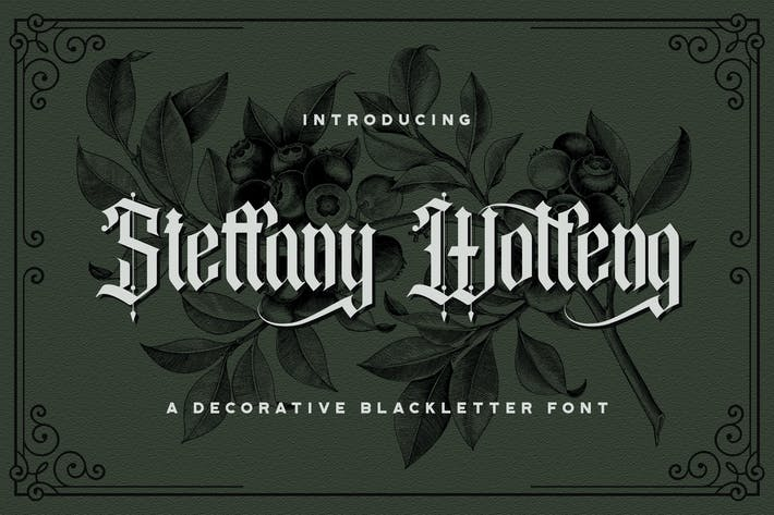 Steffany Wolfeng - Police des lettres noires