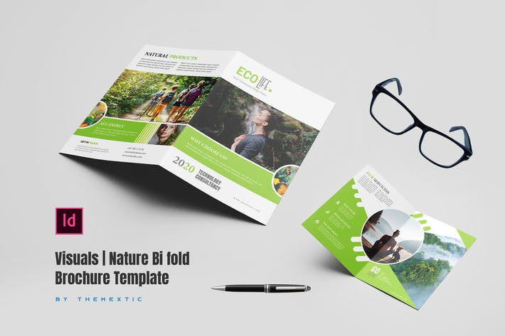 Visuals | Nature Bi fold Brochure Template