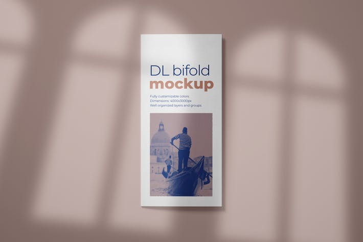 Thumbnail for DL Bifold Brochure Mockup