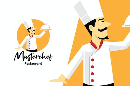 Masterchef Restaurant Mascot Logo