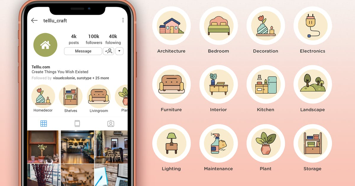 Download Instagram Highlight Icon V04 Homeliving by telllu