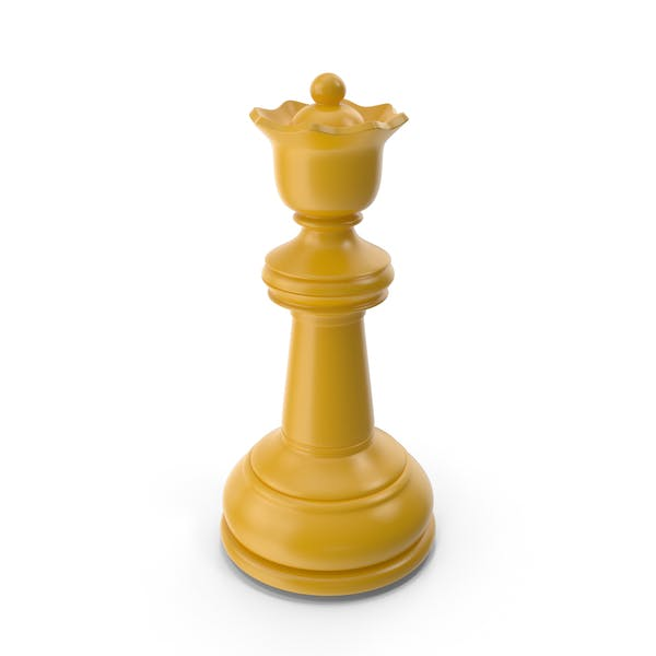 Chess Queen Yellow