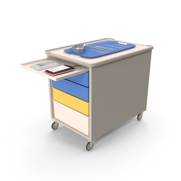 Medical Cart With Surgical Tools