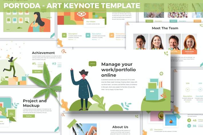 Thumbnail for Portoda - Art Keynote Template