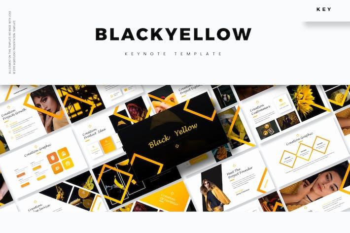 Thumbnail for Черный желтый - Шаблон Keynote