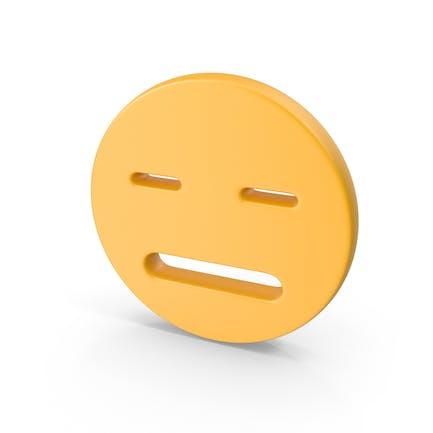 Cara sonriente sin expresión