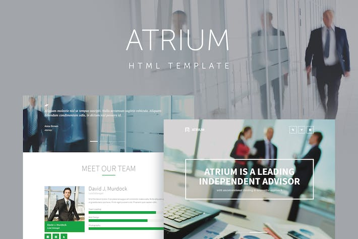 Thumbnail for Atrium - Finance Consulting Advisor Template
