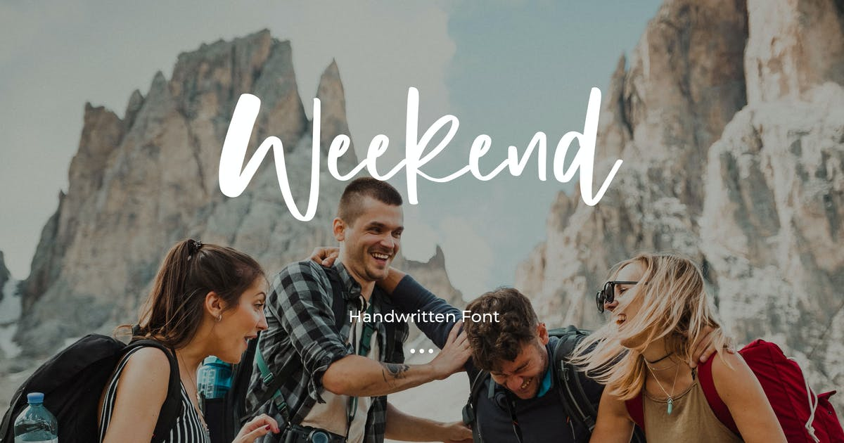 Download Weekend - Handwritten Font by Justicon