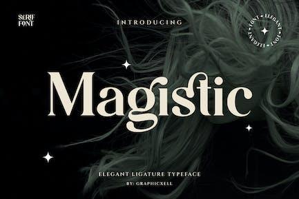 Magistic - Tipografía de ligadura Con serifa
