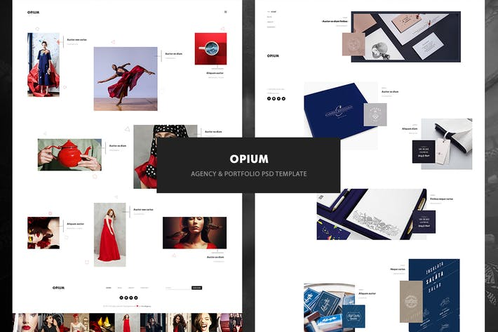 Thumbnail for Opium - Agency & Portfolio PSD Template