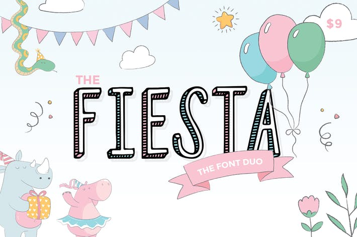 Thumbnail for Fiesta Font Duo