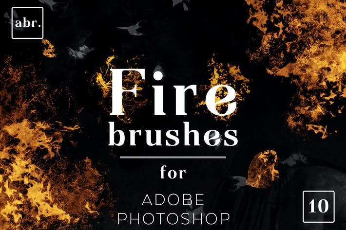 Thumbnail for Fire Photoshop Brushes