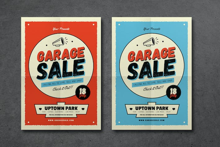 Retro Garage Sale Event Flyer