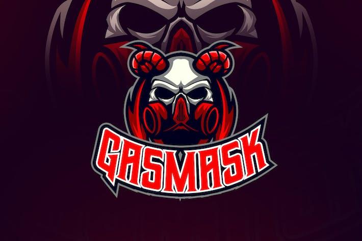 Thumbnail for Evil Skull Wearing Gas Mask Esport Logo