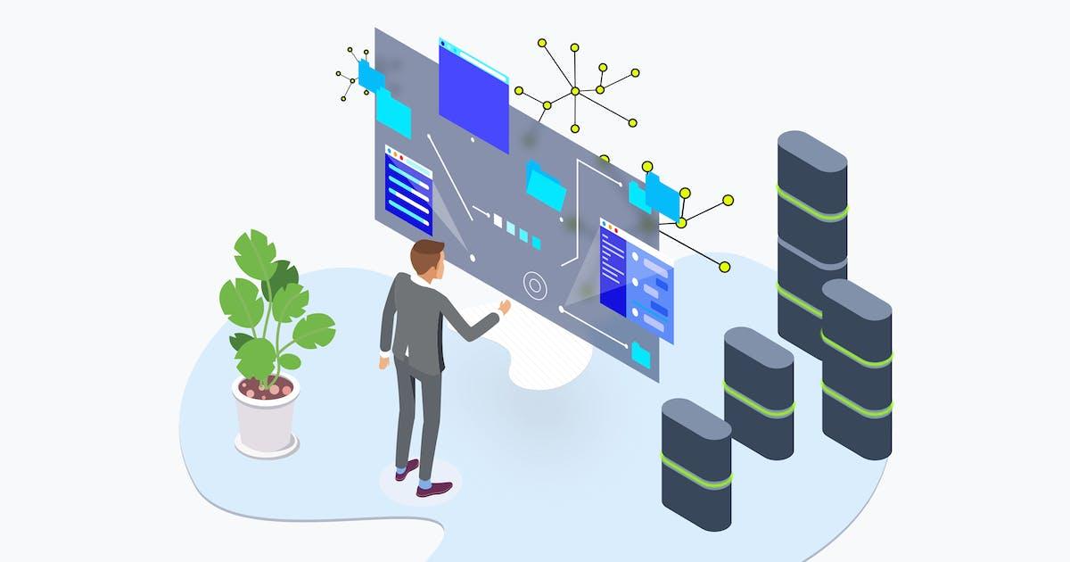 Download Blockchain Platform Data AR Tech Isometric by angelbi88